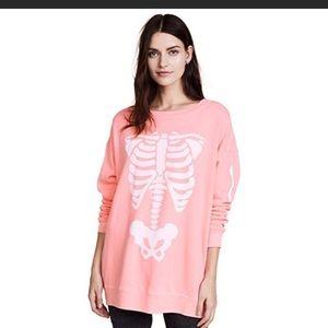 NEW NWT Wildfox Halloween Skeleton Pink M